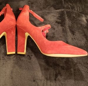 Marc Fisher Red Suede Shoes
